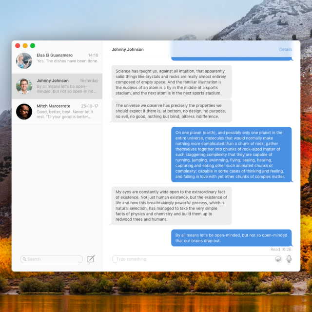 Redesign iMessage